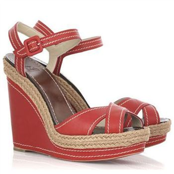 Christian Louboutin Almeria 120mm Wedges Red