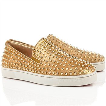 Christian Louboutin Roller Boat Loafers Gold