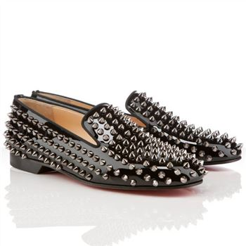 Christian Louboutin Rollerboy Spikes Loafers Black