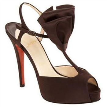 Christian Louboutin Ernesta T-strap 100mm Special Occasion Brown