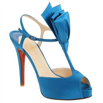 Christian Louboutin Ernesta T-strap 100mm Special Occasion Blue