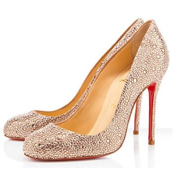 Christian Louboutin Fifi Strass 100mm Special Occasion Light Peach