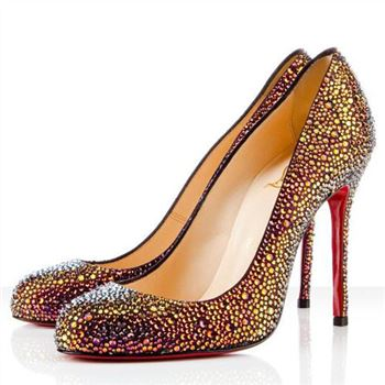 Christian Louboutin Fifi Strass 100mm Special Occasion Volcano