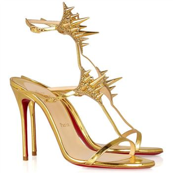 Christian Louboutin Lady Max 100mm Special Occasion Gold