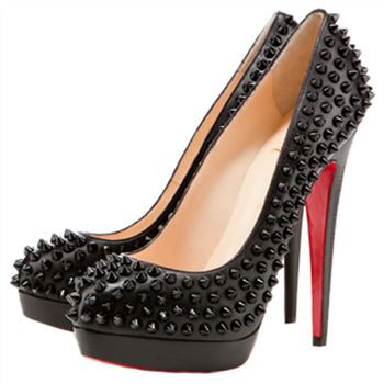Christian Louboutin Bianca Spikes 140mm Platforms Black