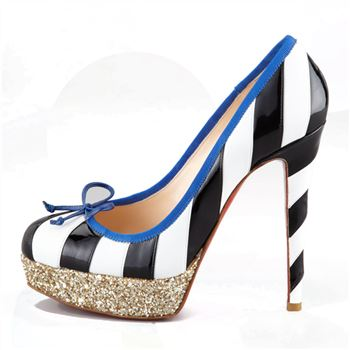 Christian Louboutin Foraine 140mm Platforms Black/White