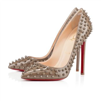 Christian Louboutin Pigalle Spikes 120mm Pumps Taupe