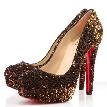 Christian Louboutin Bianca 140mm Pumps Gold