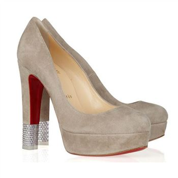 Christian Louboutin Embellished 140mm Pumps Camel