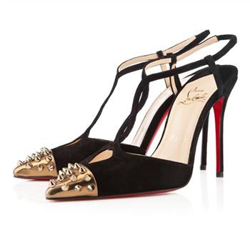 Christian Louboutin Geotistrap 100mm Pumps Black/Bronze