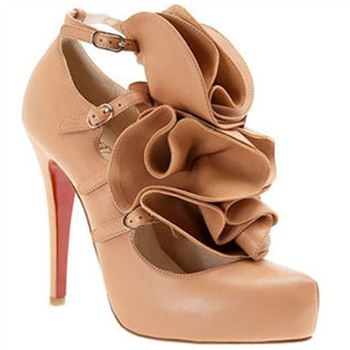 Christian Louboutin Dillian 120mm Mary Jane Pumps Pink