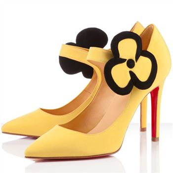 Christian Louboutin Pensee 100mm Mary Jane Pumps Canari
