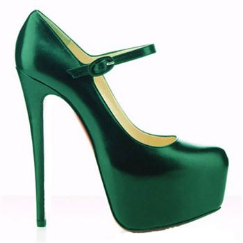 Christian Louboutin Lady Daf 160mm Mary Jane Pumps Green