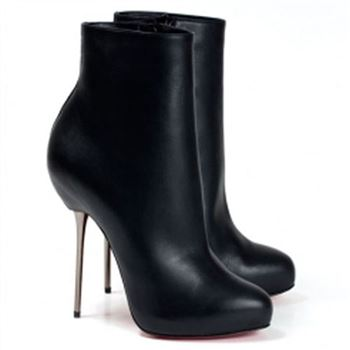 Christian Louboutin Big Lips Booty 120mm Ankle Boots Black