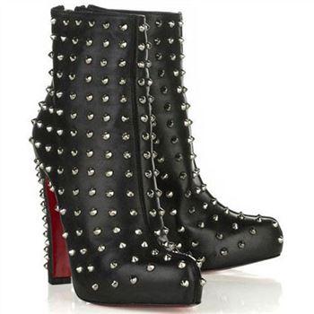 factory authentic 6d77d 76241 Christian Louboutin Belle Zeppa 100mm Ankle Boots Black ...