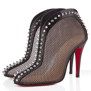 Christian Louboutin Bourriche 100mm Ankle Boots Black